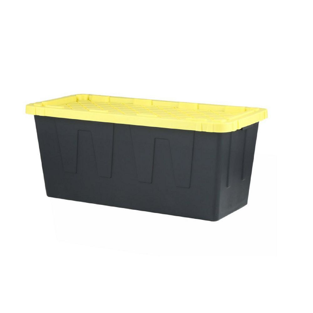 HDX 208L Strong Box Tote in Black/Yellow