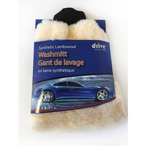 Gant de lavage en laine synthetique