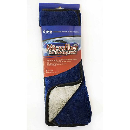 2in1 Microfibre Detailing Towels (2-Pack)