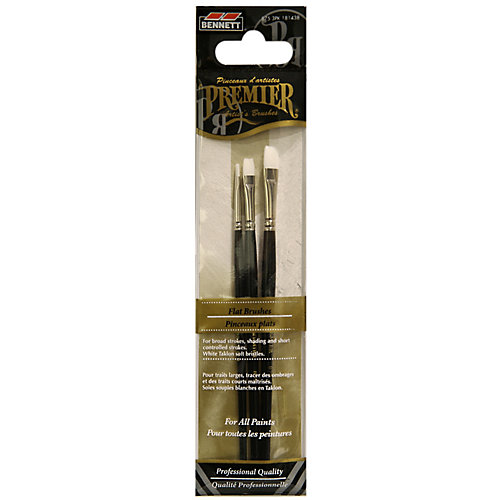 Flat Professional Artist Brushes (3-Pack)