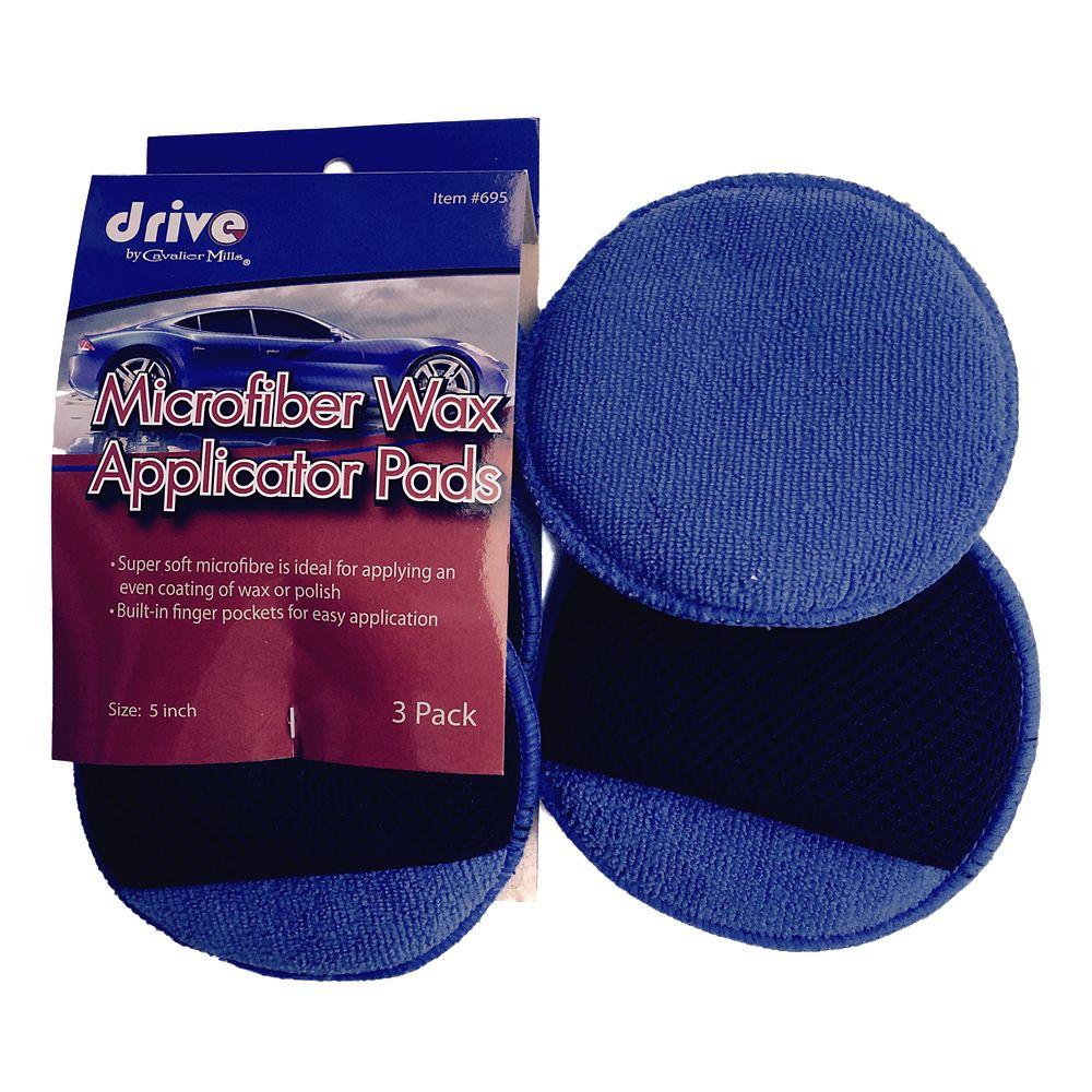 DRIVE Applicateurs de cire en microfibres, paq. 3