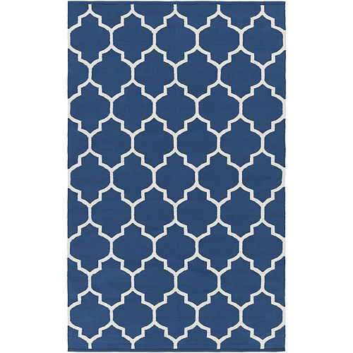 Vogue Claire Blue 2 ft. x 3 ft. Indoor Contemporary Rectangular Accent Rug