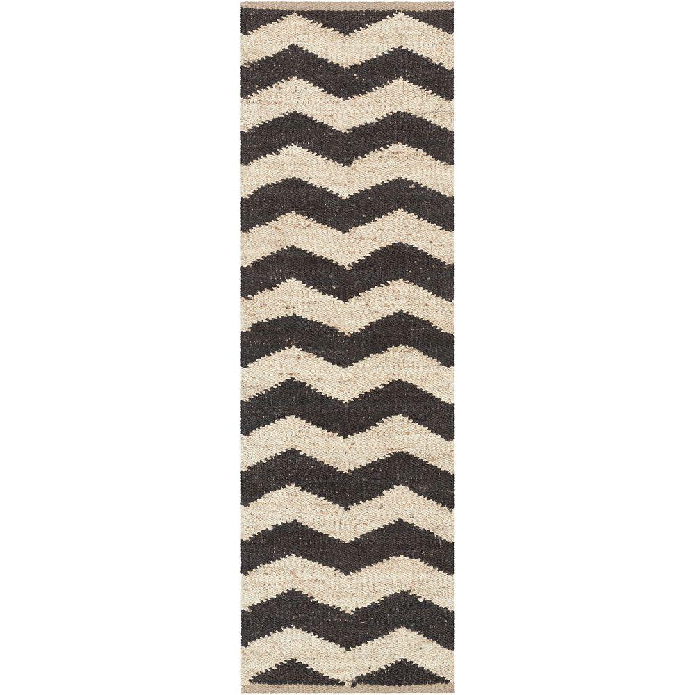 Artistic Weavers Tapis de passage d'intérieur, 2 pi 3 po x 8 pi, style contemporain, noir Portico