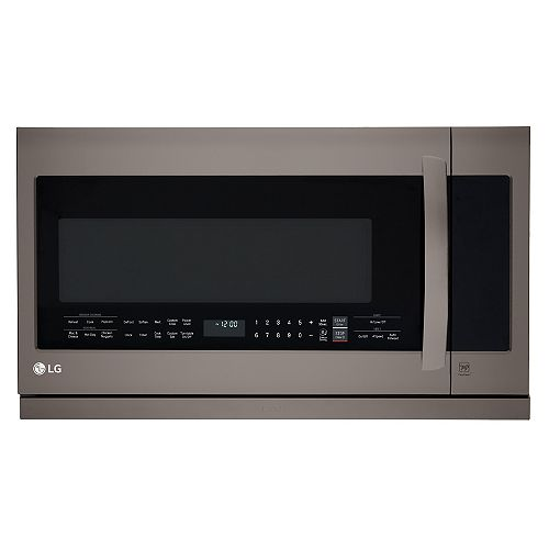 2.2 cu. ft. Over-the-Range Microwave with Slide-Out ExtendaVent in Black Stainless Steel