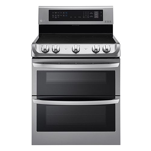 7.3 cu. ft. Electric Double Oven Range with EasyClean® and Convection in Stainless Steel