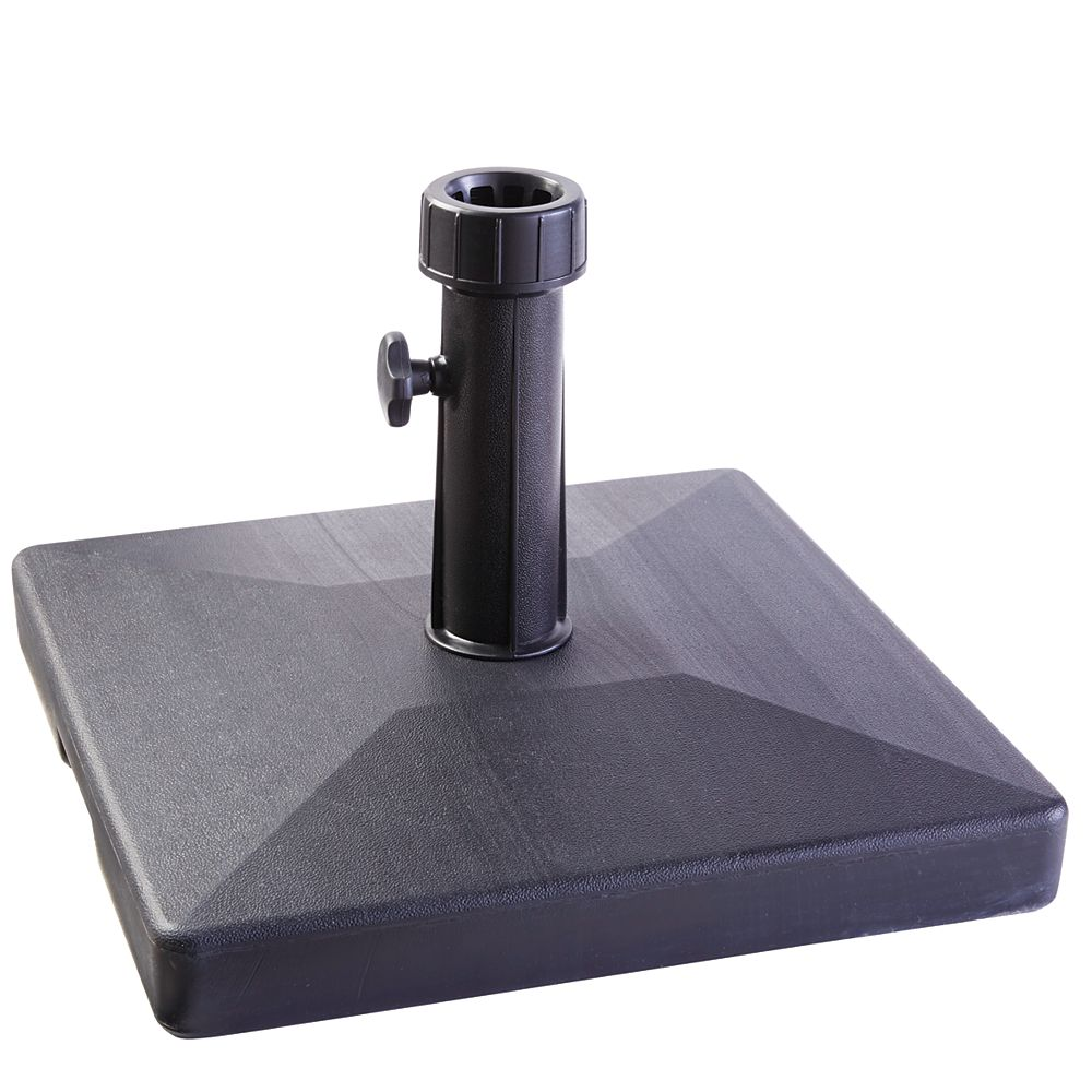HDG 18-inch Square Umbrella Base in Black