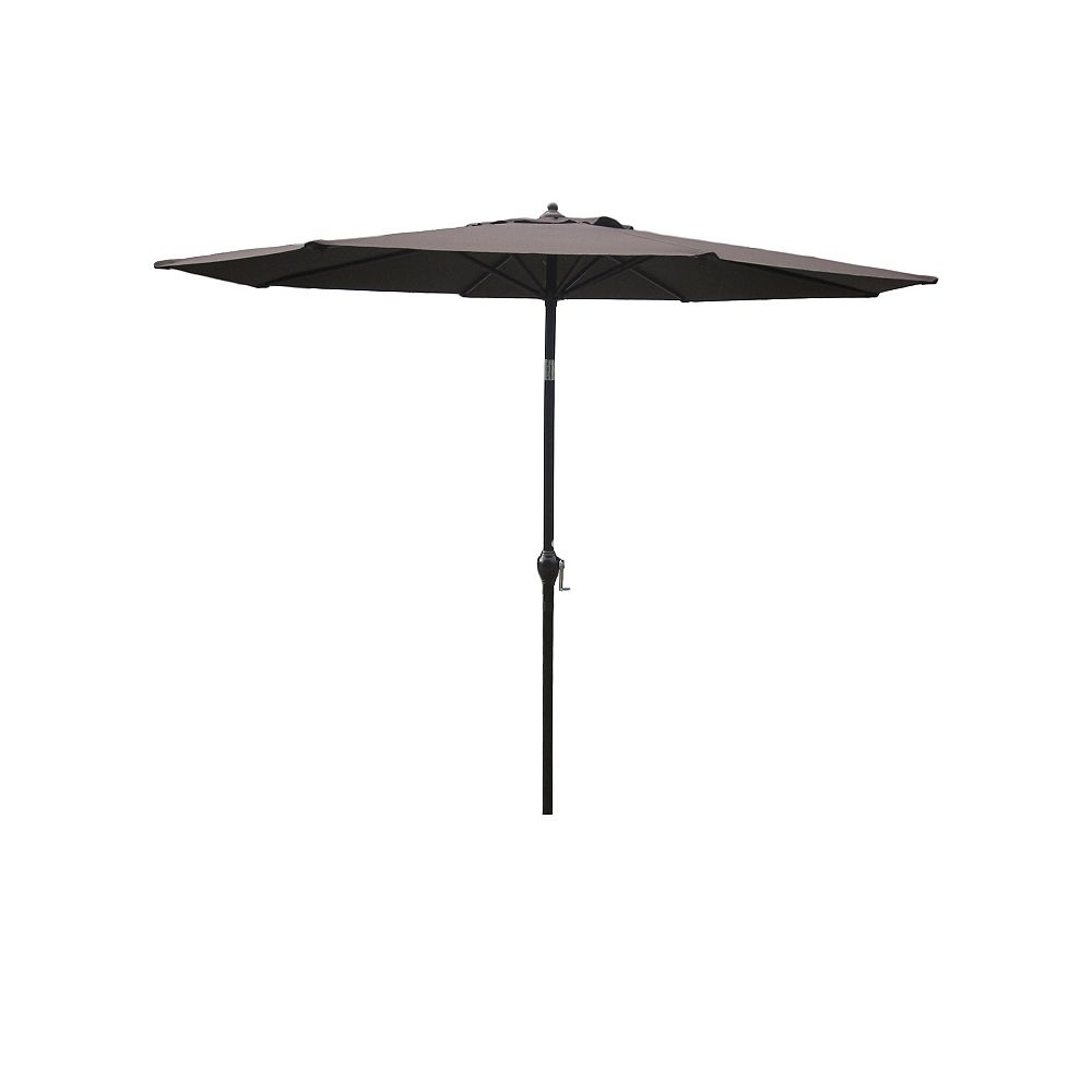 Hampton Bay 9 ft. Aluminum Market Umbrella in Brown