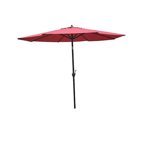 Parasol de marché en aluminium de 9pi, couleur rouge