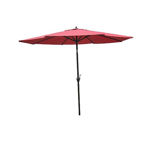 9ft Aluminum Market Umbrella in Red