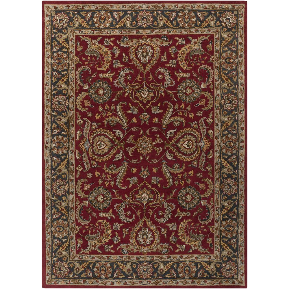 Artistic Weavers Middleton Georgia Red 5 ft. x 8 ft. Indoor Traditional Rectangular Area Rug