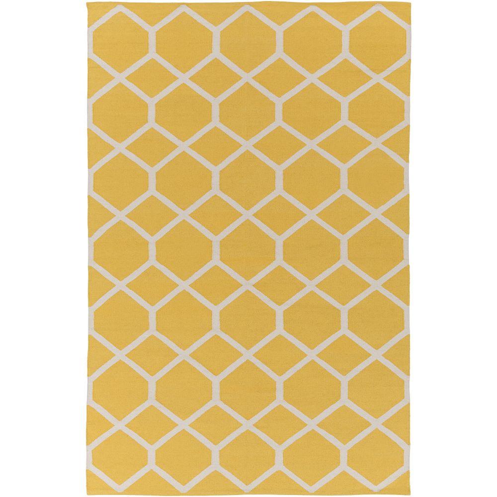 Artistic Weavers Vogue Elizabeth Yellow 3 ft. x 5 ft. Indoor Contemporary Rectangular Area Rug