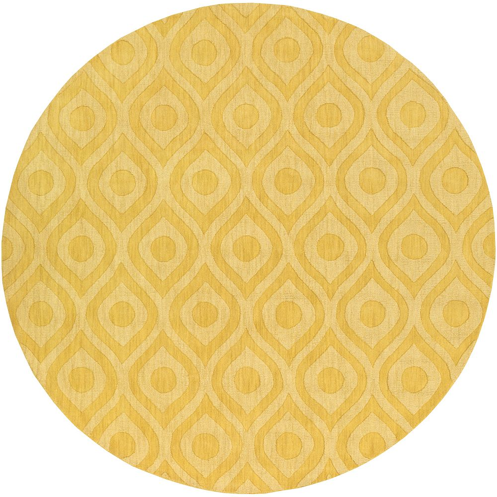 Artistic Weavers Central Park Zara Yellow 9 ft. 9-inch x 9 ft. 9-inch Indoor Transitional Round Area Rug