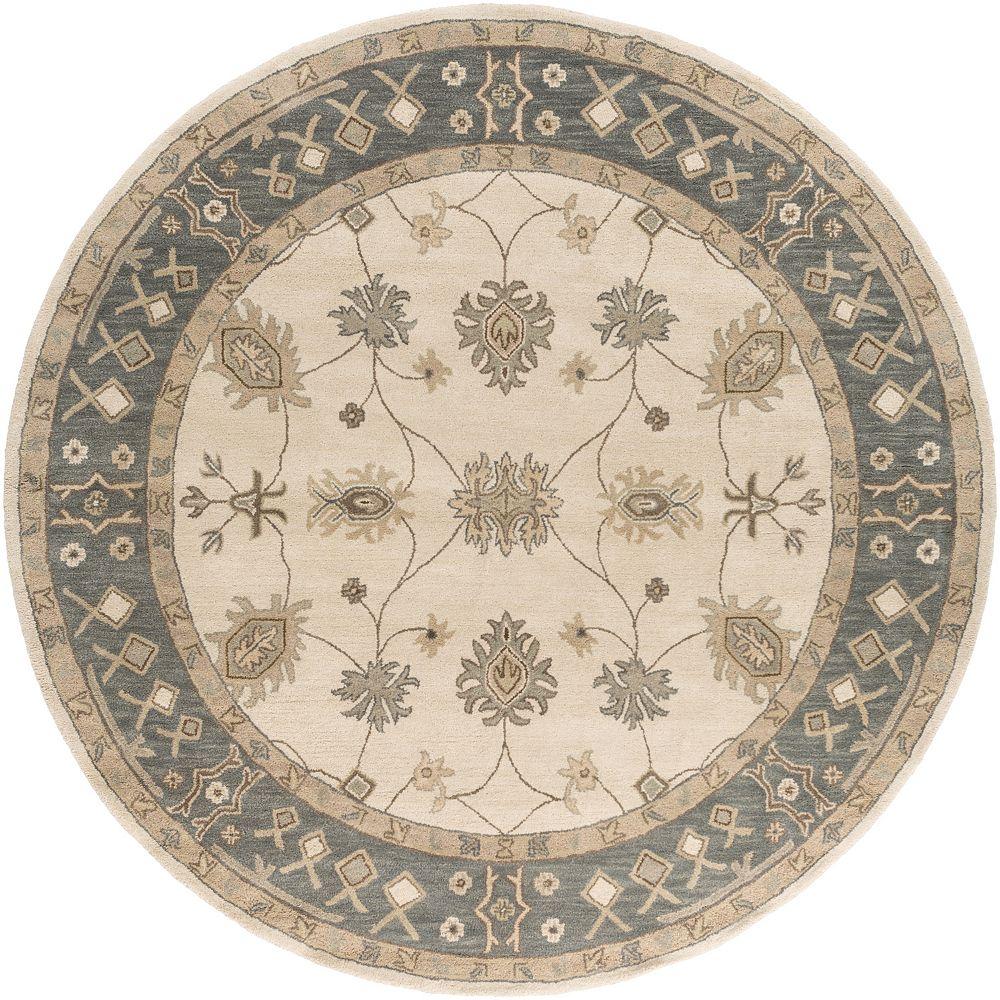 Artistic Weavers Carpette d'intérieur, 3 pi 6 po x 3 pi 6 po, style transitionnel, ronde, havane Middleton Willow