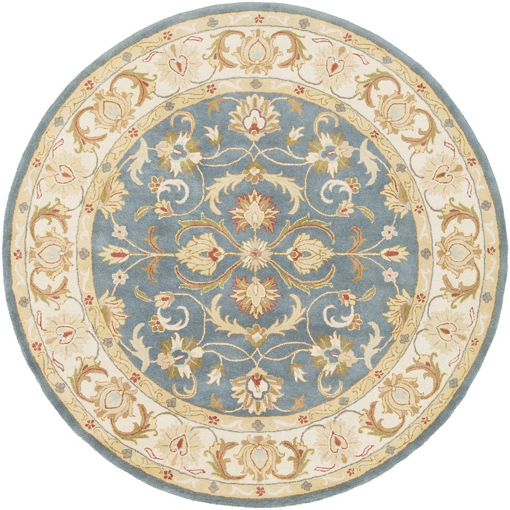 Artistic Weavers Oxford Aria Blue 3 ft. 6-inch x 3 ft. 6-inch Indoor Traditional Round Area Rug