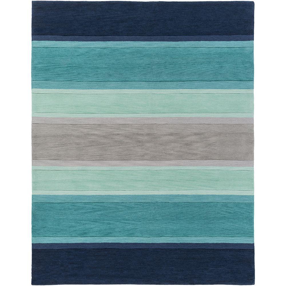 Artistic Weavers Carpette d'intérieur, 7 pi 6 po x 9 pi 6 po, style contemporain, rectangulaire, bleu Holden Olive