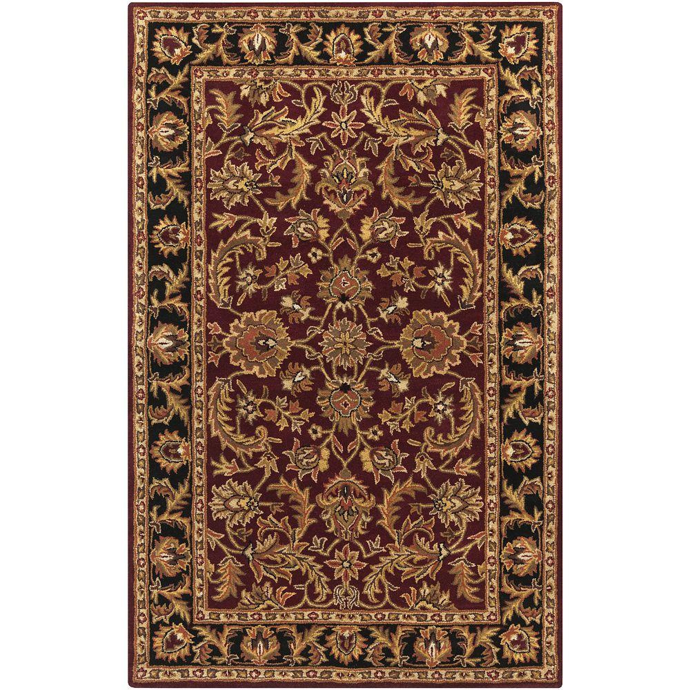 Artistic Weavers Carpette d'intérieur, 3 pi x 5 pi, style traditionnel, rectangulaire, rouge Middleton Virginia