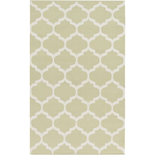 Vogue Everly Off-White 8 ft. x 10 ft. Indoor Contemporary Rectangular Area Rug