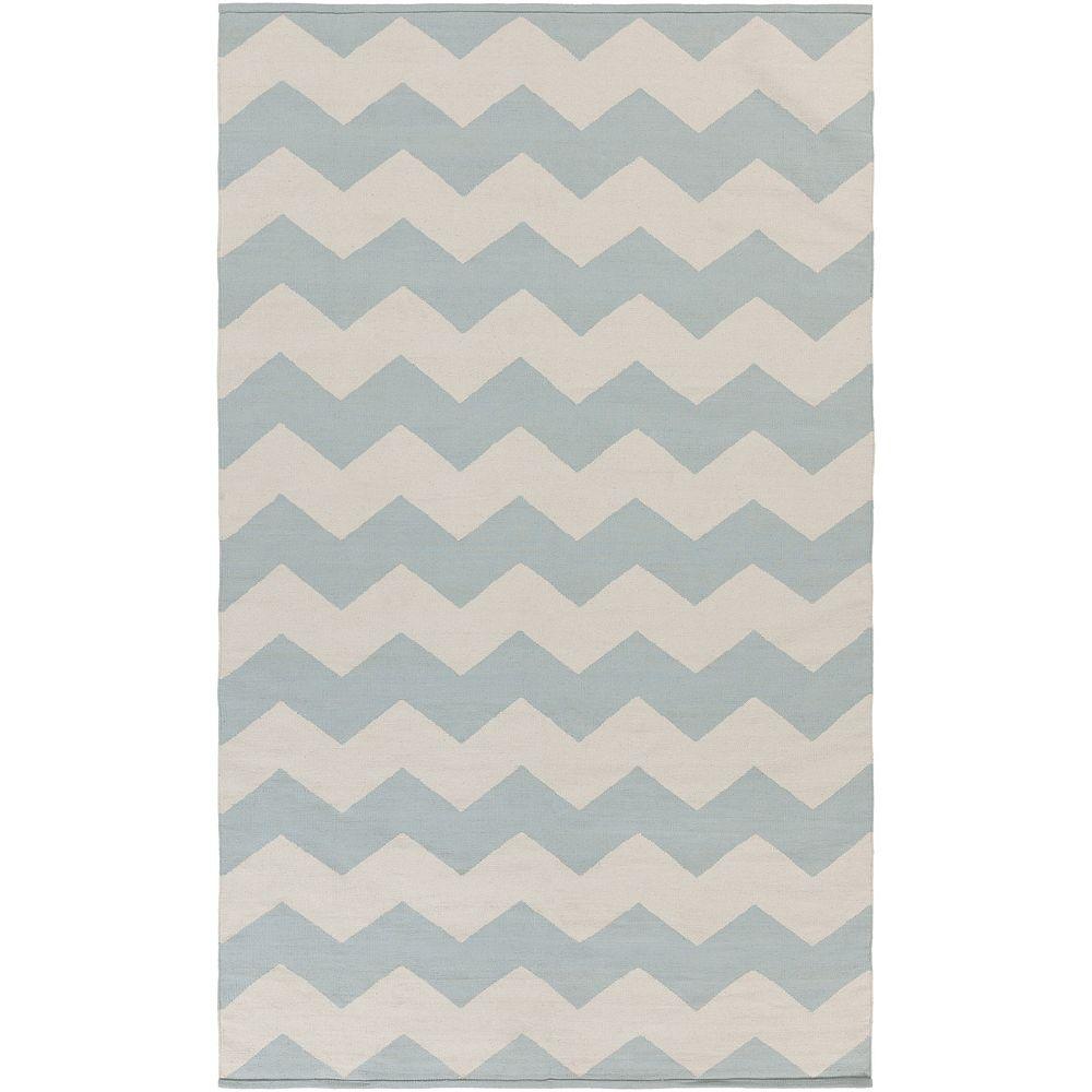 Artistic Weavers Carpette d'intérieur, 5 pi x 8 pi, à poils longs, style contemporain, rectangulaire, bleu Vogue Collins