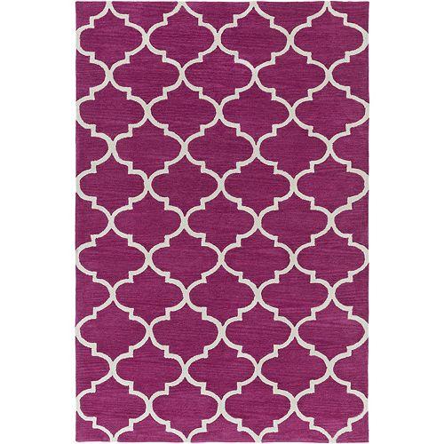 Artistic Weavers Holden Finley Purple 5 ft. x 7 ft. 6-inch Indoor Contemporary Rectangular Area Rug