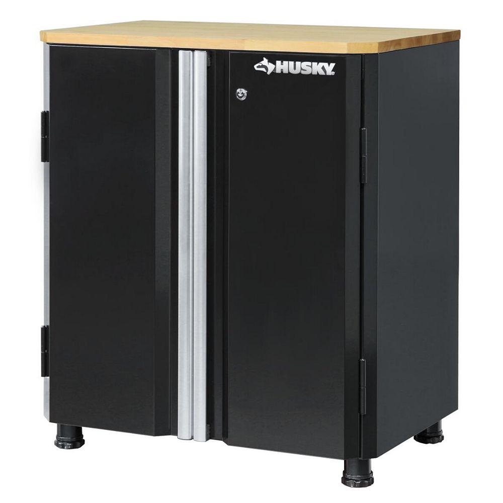 Husky 33-inch H x 28-inch W x 18-inch D 2-Door Steel Garage Base Cabinet