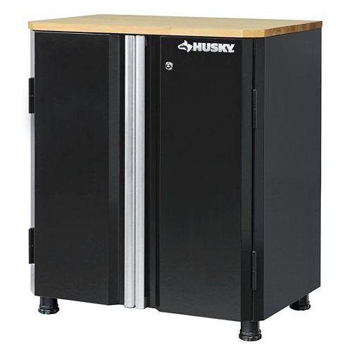 33-inch H x 28-inch W x 18-inch D 2-Door Steel Garage Base Cabinet