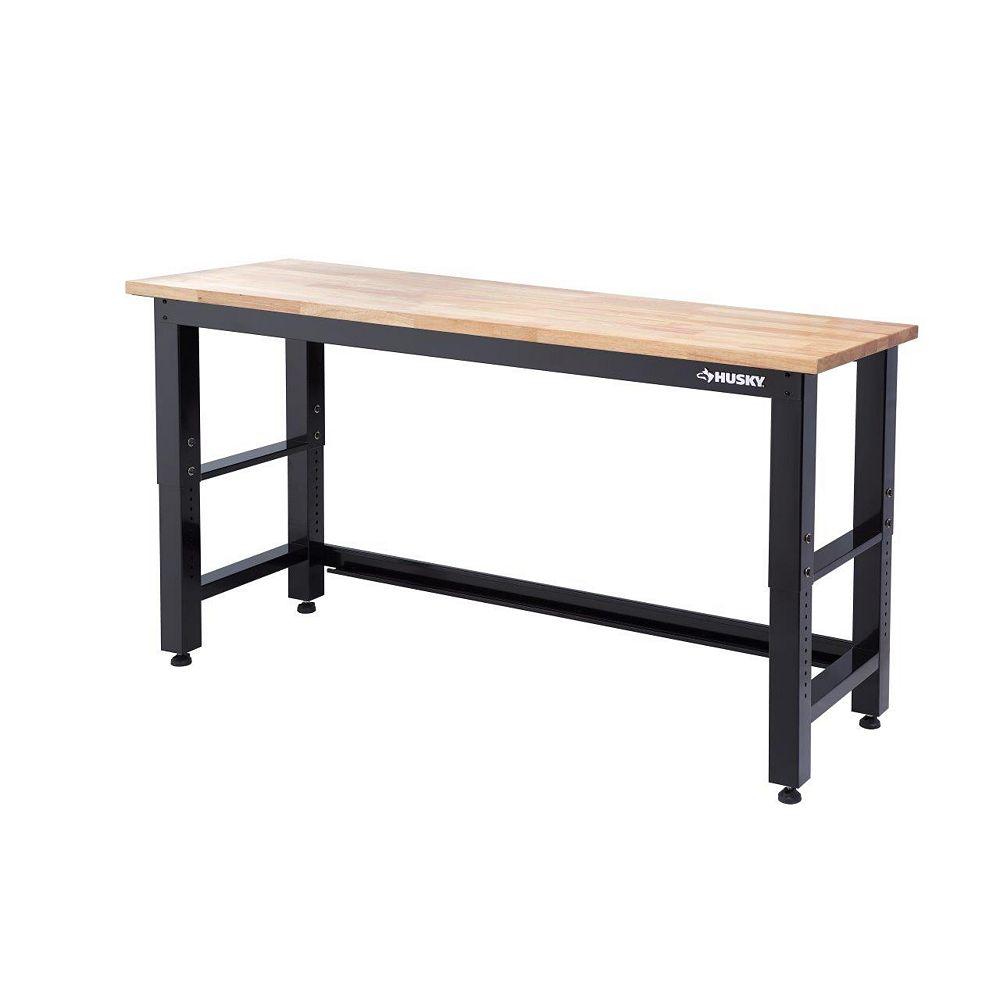 Husky 6 ft. Solid Wood Top Workbench G7200S-CA