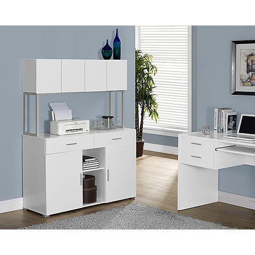 Bureau, bois manufacturé, blanc