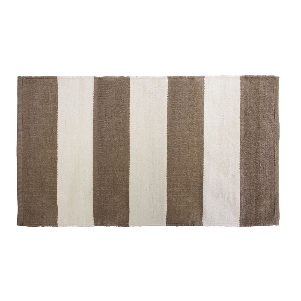 Home Decor Brown 2 ft. 4-inch x 4 ft. Indoor Contemporary Rectangular Area Rug