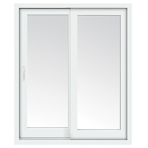 72 inch x 80 inch Clear LowE Argon Prefinished White Left-Hand Vinyl Sliding Patio Door - ENERGY STAR®