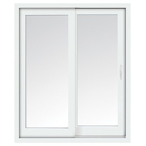 STANLEY Doors 59 inch x 80 inch Clear LowE Argon Prefinished White Right-Hand Vinyl Sliding Patio Door - ENERGY STAR®