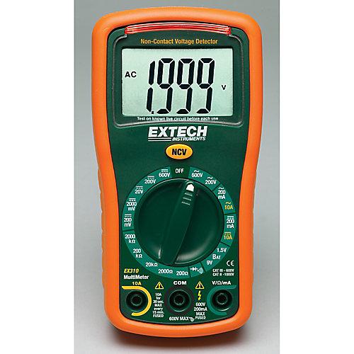 9 Function Mini MultiMeter + Non-Contact Voltage Detector