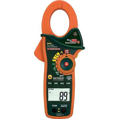 Extech Instruments Multimètre/ampèremètre 1000Ampères à valeur efficace vraie et thermomètre infrarouge