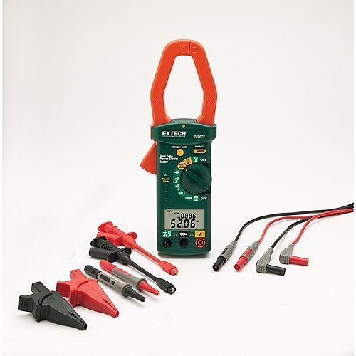 Extech Instruments Kit ampèremètre AC 1000Ampères triphasé/monophasé