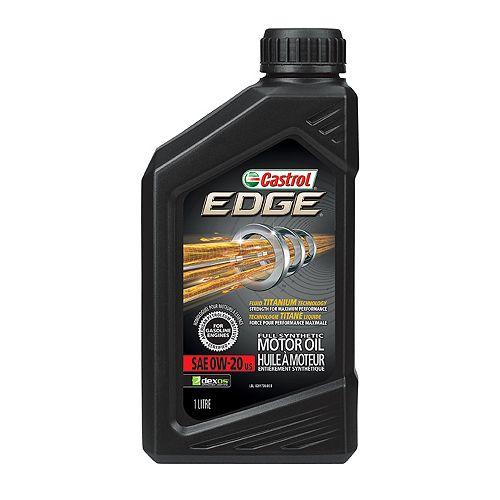 Castrol Castrol Edge 0W20 huile a moteur synthétique, 1L