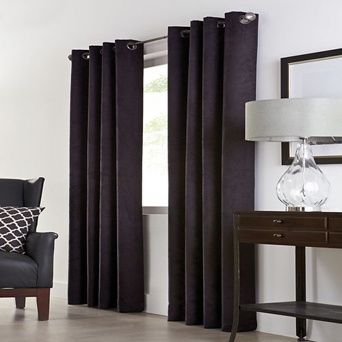 Navar 100% Blackout Grommet Curtain 54 inches width X 95 inches length, Black