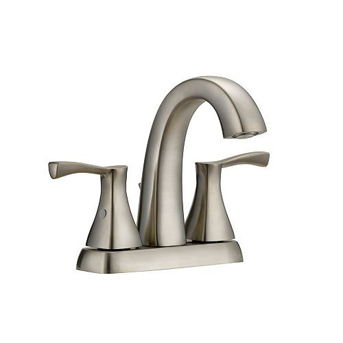 Glacier Bay Jaci 2 Handle 4In Centerset Bath Faucet In Brushed Nickel Finish