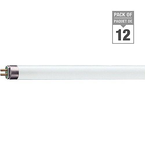 Philips Ampoule fluorescente T5, 21 po, 13 W, blanc doux, ens. de 12