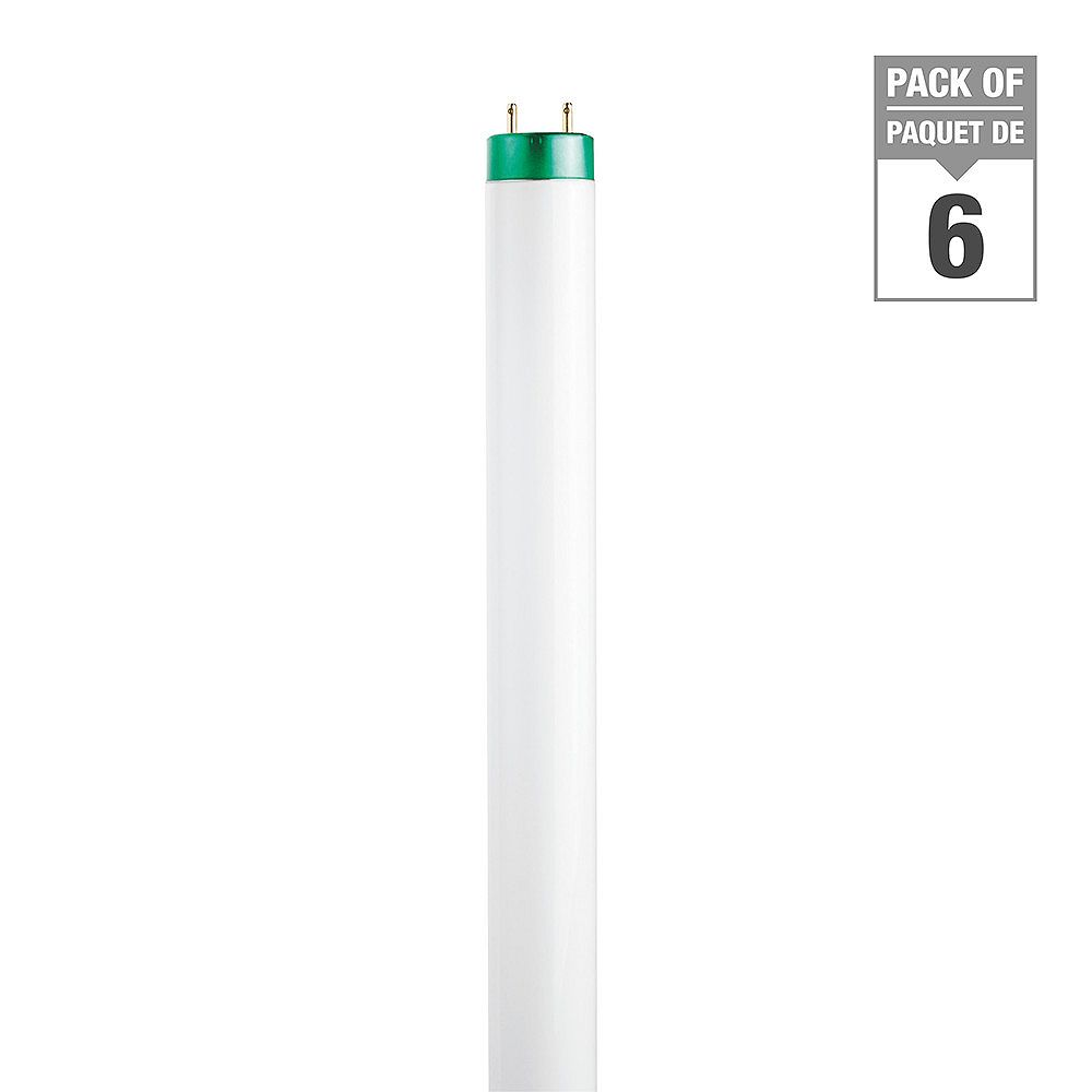 Philips 15W T8 18-inch Cool White Fluorescent Light Bulb (6-Pack)