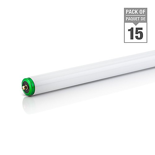 59W Cool White 96 inch T8 Fluorescent Light Bulb (15-pack)