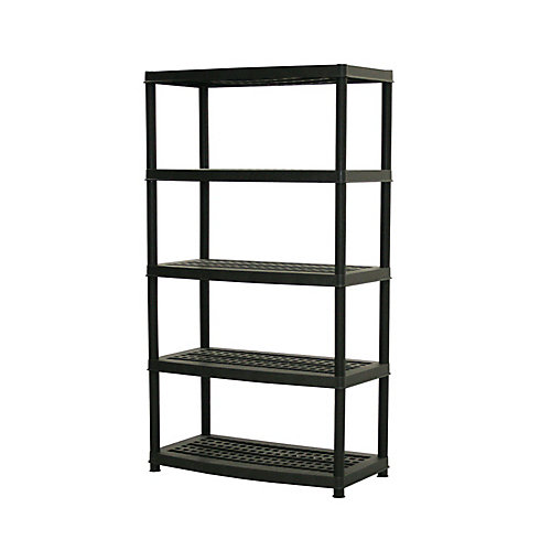 72-inch x 36-inch x 18-inch 5-Tier Shelf in Black