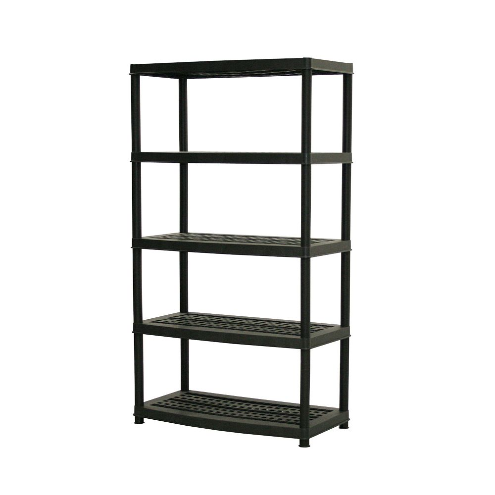 Accent 72-inch x 36-inch x 18-inch 5-Tier Shelf in Black