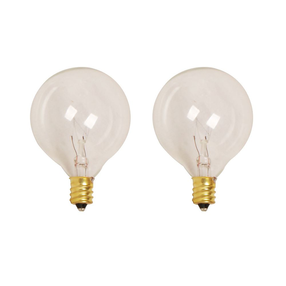 HDG 7W Incandescent G50 Clear Replacement Light Bulb (2-Pack)