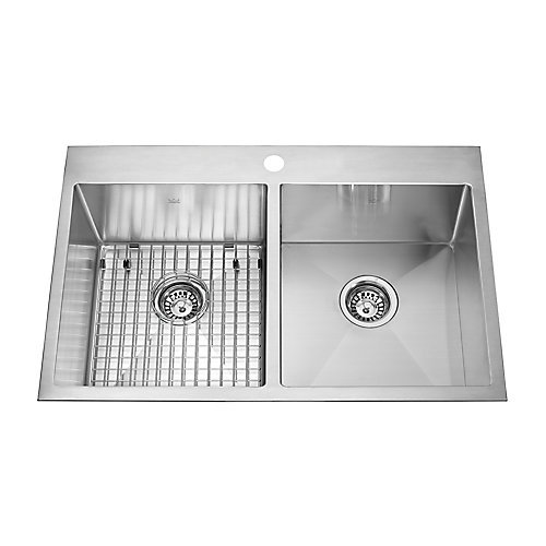 31-inch x 20-inch Dual Mount Stainless Steel Double Basin Kitchen Sink