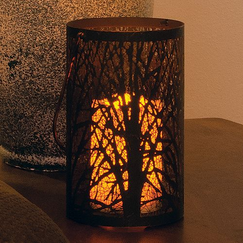Arboretum LED Candle Lantern with On/Off Timer