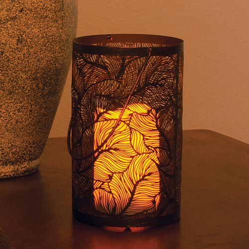 Panama LED Candle Lantern with On/Off Timer