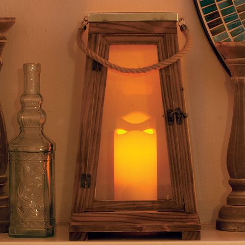Newport LED Candle Lantern with On/Off Timer