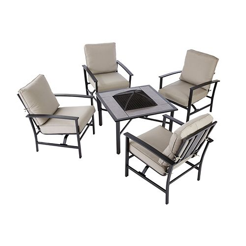 Grand Parkway 5-Piece Patio Fire Pit Set