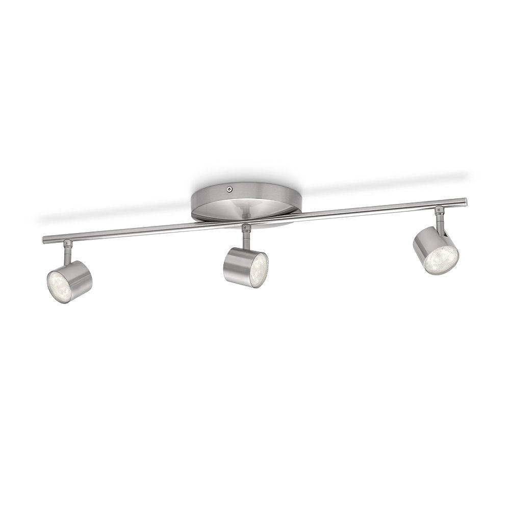 Philips LED Track Fixture 3 Light Nickel
