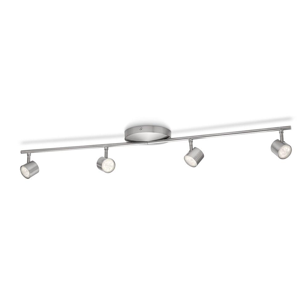 Philips LED Track Fixture 4 Light Nickel