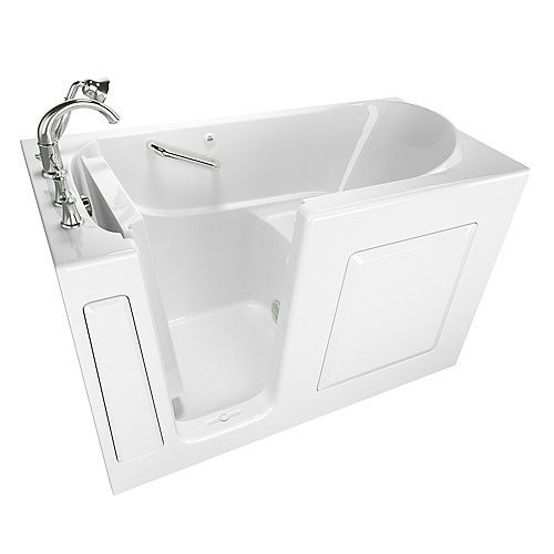 American Standard American Standard Gelcoat Soaking Rectangular Walk-In Bathtub With Quick Drain in White